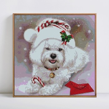 HUACAN Diamond Painting Full Square Dog 5D DIY Diamond Embroidery Mosaic Picture Of Rhinestone Animal