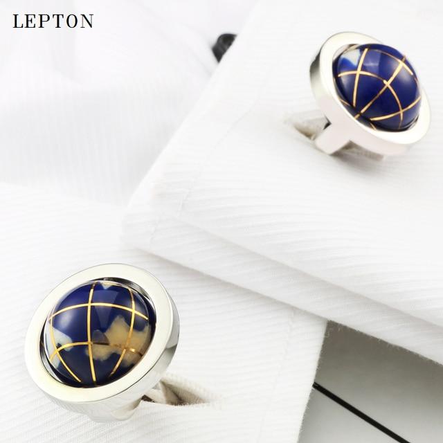 Фото новый глобус лептон запонки в виде земного шара для мужчин высокое