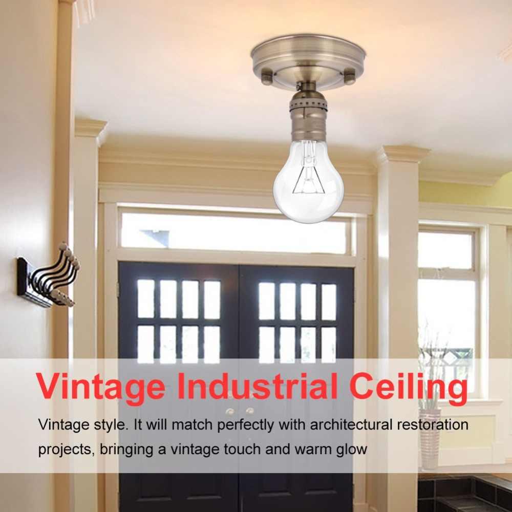 E26/E27 220 V/90-260 V/110 V Vintage endüstriyel tavan duvar ışık bazı tutucu kolye ampul lamba vida soket yeni yüksek kalite