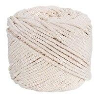 4 мм Хлопок Макраме Веревка натуральный бежевый витой шнур веревка Artisan DIY домашний текстильные аксессуары ручной работы 100 м