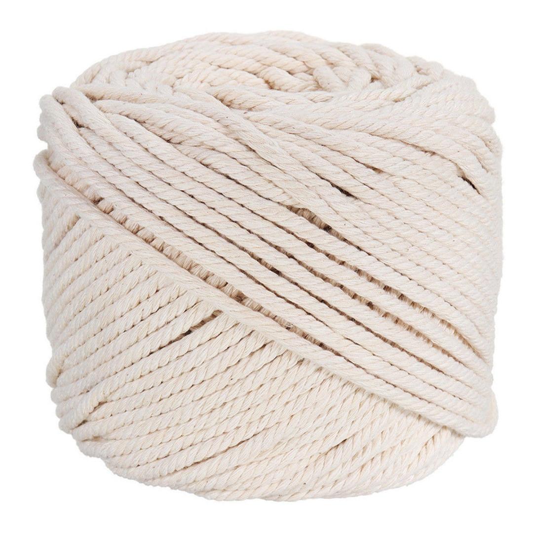 a516791a466ab 4mm Algodão Macrame Corda Cordão Trançado Corda Bege Natural Artesanal DIY  Acessórios Hand Craft Home Textile 100 m