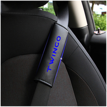 Reflective Safe Seat Belt Cover Car belt shoulder Pads For Renault TWINGO Styling Auto Parts 2pcs