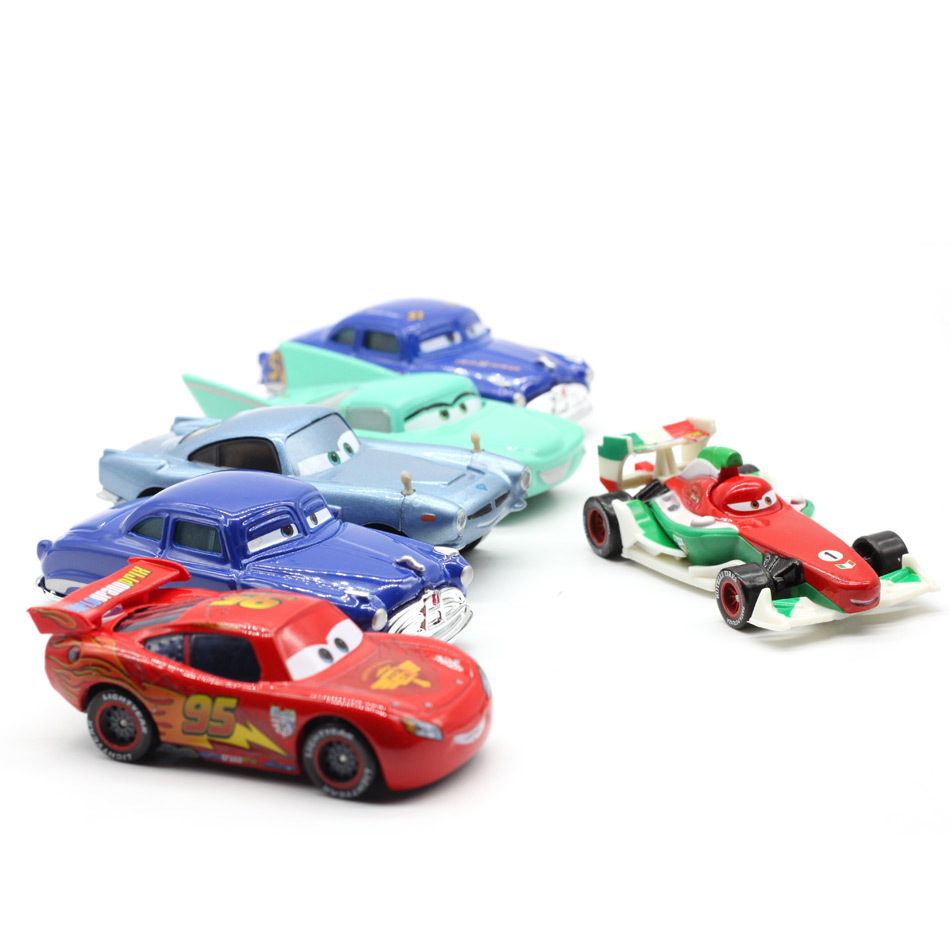 Disney Pixar Cars 2 3 New Lighting Mcqueen Suv Mater Flo Jackson Storm 1:55 Diecast Metal Alloy Toys Kid Christmas Toy Best Gift