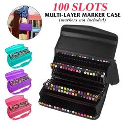 100Hole Marker Pen Storage Case painting case pouch sketch tools storage bag organizer bag
