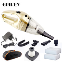 Grikey Powerful Wireless Car Vacuum Cleaner Mini Handheld Vacuum Cleaner Cyclone Car Dry Wet Cleaning 120W Gift KIT
