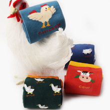 Harajuku Funny Cartoon Animal Women Short Socks Chicken Goose Patterned Cute Casual Art Female Ankle Happy Hipster