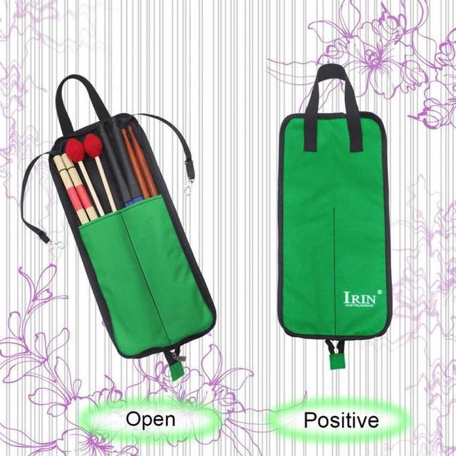 Irin Drum Stick Bag  - Durable Waterproof Storage Pouch Portable Drummer Accessories 3