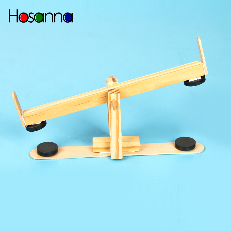 Hosanna Kids Wooden Magnetic Seesaw Model Assembled Science Toys Kit Learning Physics Educational Toys For Children