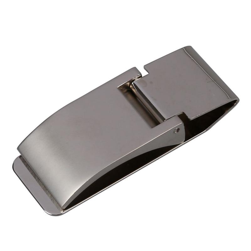 Silver Tone Stainless Steel Slim Money Cash Bill Clip Holder