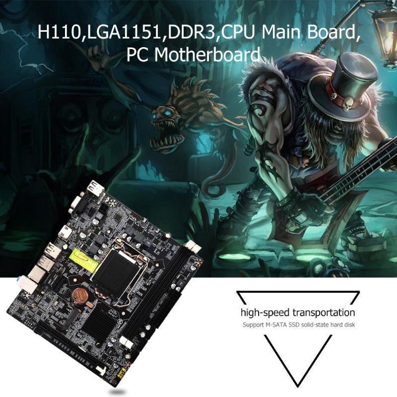 H110 PC carte mère LGA1151 Support 16 carte graphique DDR3 CPU système de jeu carte mère pour Intel Core 6 7 i7 i5 i3
