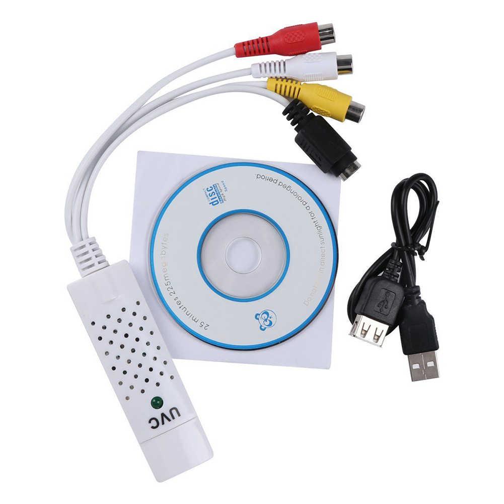 OPQ-USB2.0 Video TV Tuner DVD Ses yakalama kartı Dönüştürücü Adaptörü Win7/8 T7