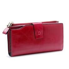 Модный длинный женский кожаный кошелек, женские кошельки для мобильного телефона, кошелек из натуральной кожи, Женский кошелек для монет, Carteira Feminina