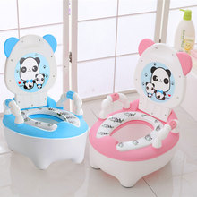 Baby Kids Cute Cartoon Backrest Bowl Urinal Training Pan Seat Potty Toilet Comfortable Children(China)