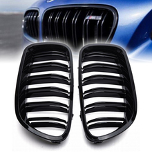 Treyues 1Pair Glossy Black Front Grille Kidney ABS Racing Grills For BMW F10 F11 M5 528i 530i 5-Series 11-16 цена