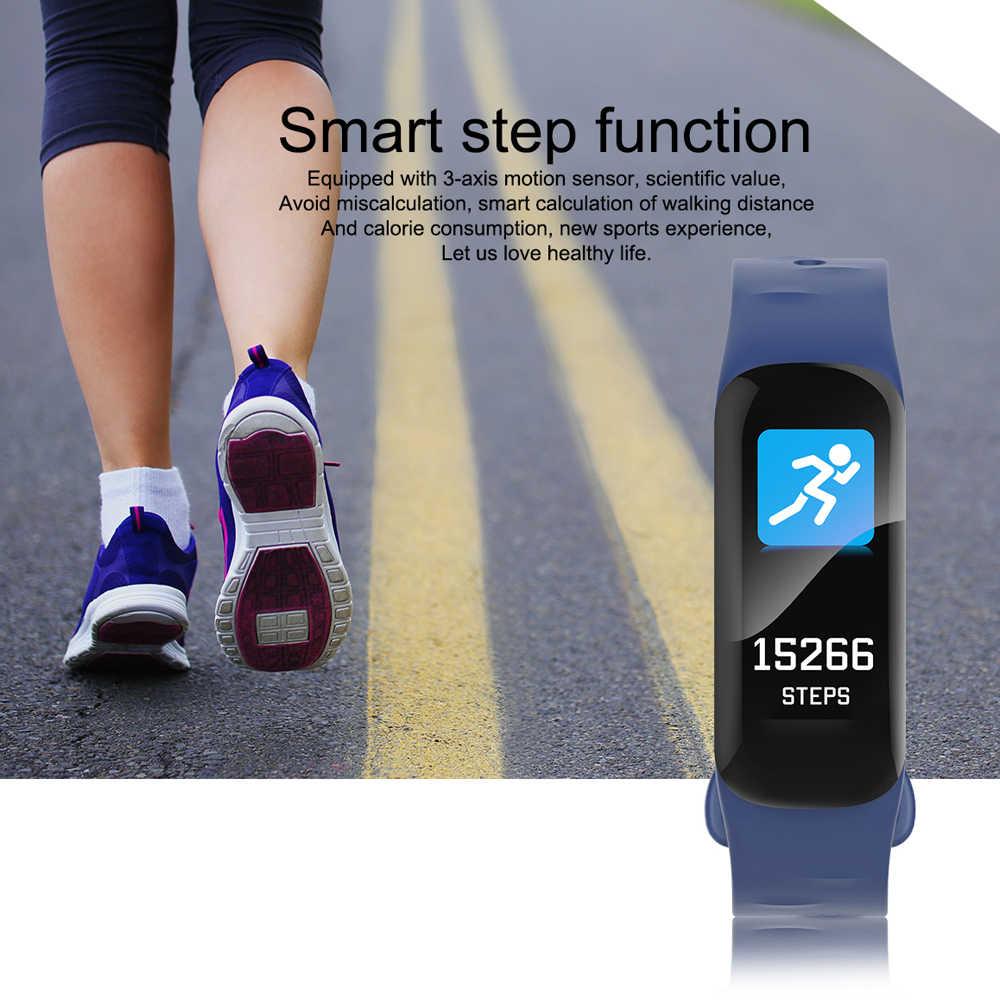 C1s צבע מסך חכם בריא טיפול צמיד לב קצב ולחץ דם ניטור שעון BT צעד תנועה להקת כושר