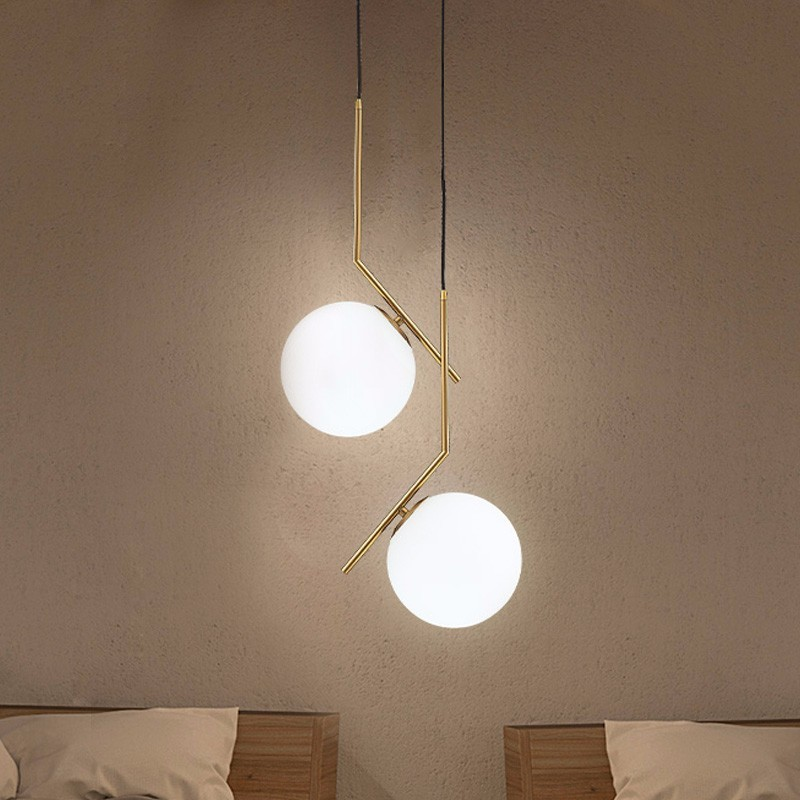 Modern Glass Ball Pendant Lights For Dining Room Indoor Home Kitchen Fixtures Hanging Lamp Bar Restaurant Decor Luminaire Lustre