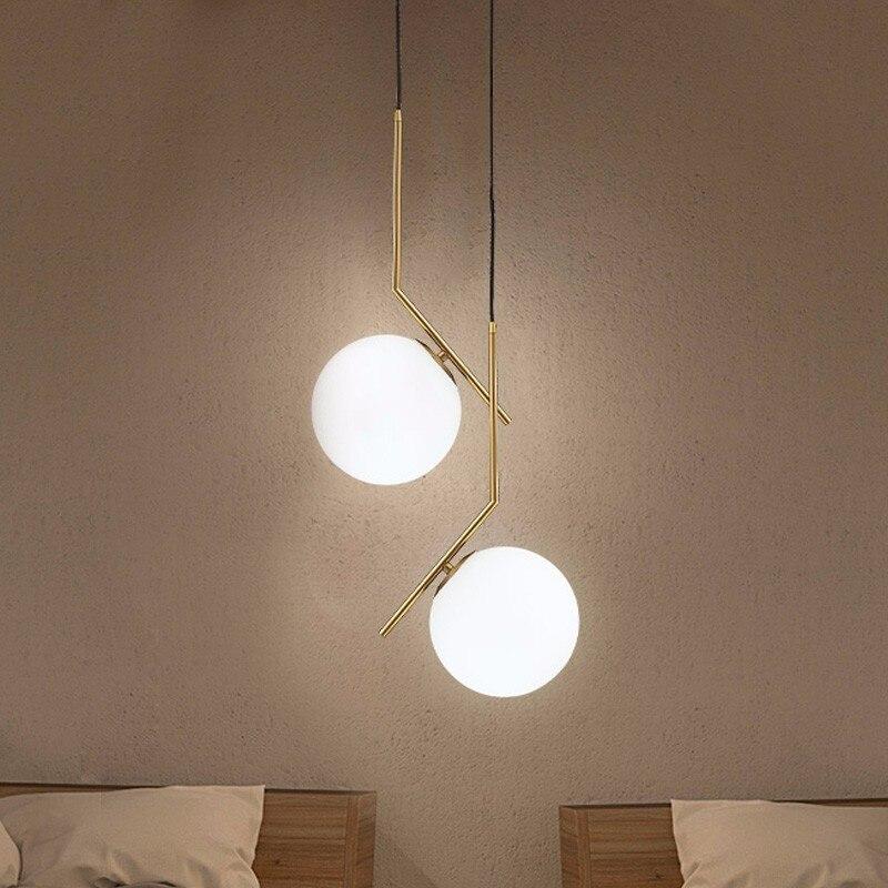 Moderne boule de verre pendentif lumières pour salle à manger intérieur maison cuisine luminaires suspendus lampe Bar Restaurant décor Luminaire Lustre