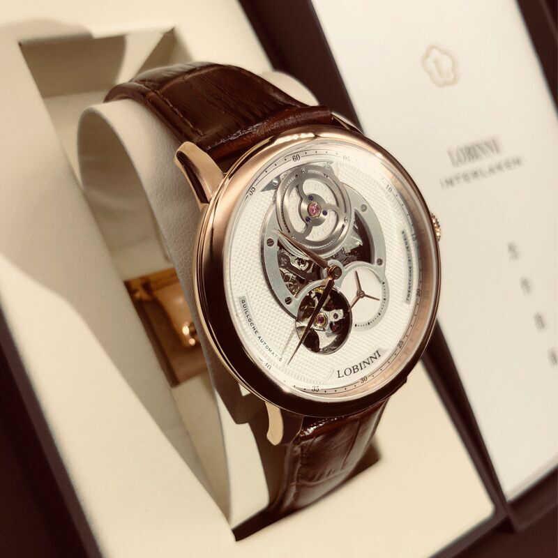 Швейцария Элитный бренд LOBINNI Топ Япония Импорт Авто Механические Мужские часы сапфир 50 м водонепроница relogio L16020