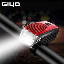 купить Bicycle Front Light GIYO LED IPX5 Waterproof Holder Headlight Intelligent USB Rechargeable  Cycling Safety Warning Lamp по цене 1340.4 рублей
