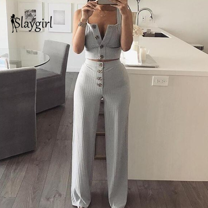 25d77312065 Slaygirl Sexy Autumn Two Piece Set Button Crop Top Solid Tops Casual 2  Piece Set Women. US  20.07. 14 orders. Sequined Summer Sexy Bodycon Dress  ...