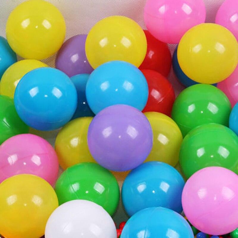 100 шт./партия, забавный детский бассейн, водный бассейн, морской волнистый шар, Экологичный красочный шар, мягкий красочный шар