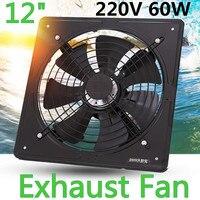 Kitchen Ventilator Axial Industrial Wall Fan 220V 12 inch Metal Exhaust Fan High Speed Air Extractor Window Ventilation Fan