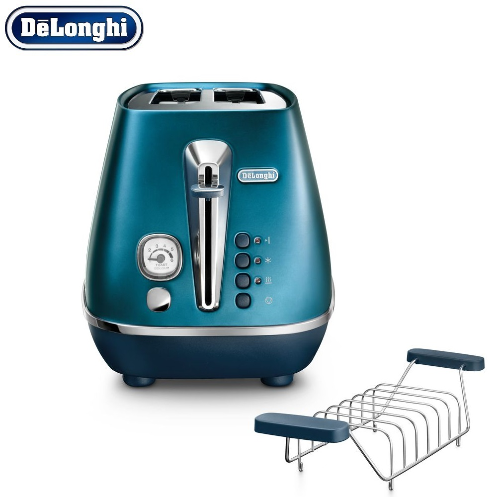 лучшая цена Toasters Delonghi CTI2103.BL home kitchen appliances cooking toaster fry bread to make toasts