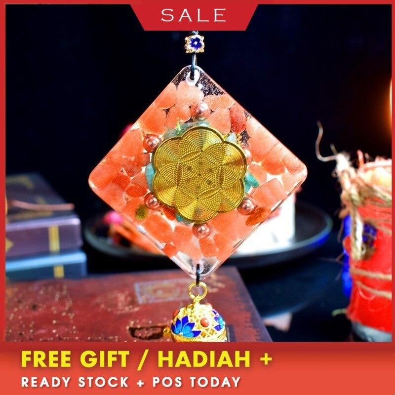 Orgonite énergie cristal voiture pendentif amulette Aura Smart bijoux voiture décoration intérieure pendentif à breloque unisexe C0127