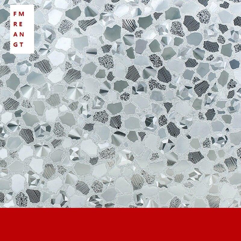 90 cm x 200 cm sans colle électrostatique Film de verre autocollant fenêtre salle de bains couverture de toilette occultant intimité Opaque autocollants de fenêtre