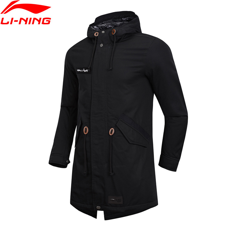 Li Ning Men The Trend Sports Cotton Padded Jacket Winter Warm Regular Fit Cotton Polyester LiNing