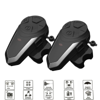 2PCS BT S3 1200M Motorcycle Bluetooth Helmet Headsets Intercom for Riders Wireless Intercomunicador Interphone MP3 FM