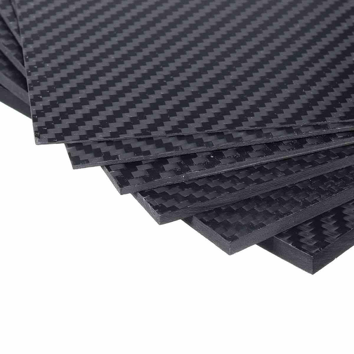 0.5-5mm 100x250mm 3 k superfície matte sarja folha de painel de placa de carbono dureza composta alta material antiuv fibra de carbono