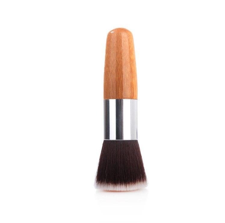 urso romantico bambu escova para corar cosmeticos macio foudnation escovas de cabelo sintetico para as mulheres