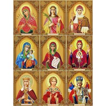 Huacan Diamond Painting Madonna Full Square Embroidery Religion Home Decoration  5D Diy Mosaic Rhinestone Gift