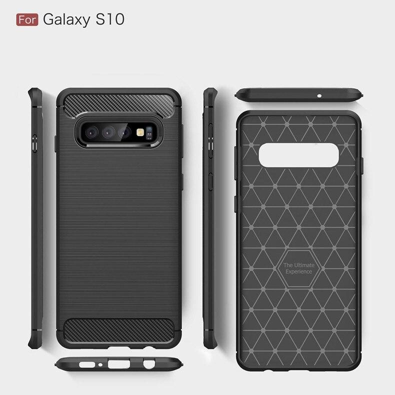Carbon Fiber Case For Samsung Galaxy S10 E S8 S9 Plus A9/A8 Star A750 A8 A6 Plus 2018 Note 9 8 A3 A5 A7 J3 J5 J7 2017 Covers