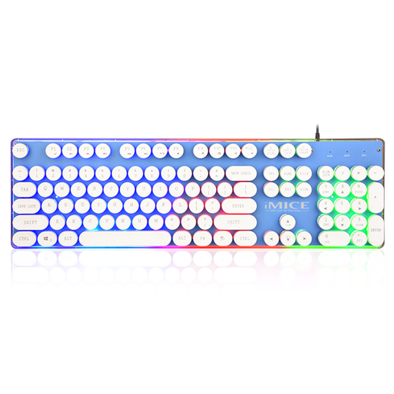 IMice Gaming Keyboard Steam Punk 104 Keys Backlit Keyboards Wired USB Waterproof Mechanical Feeling Steam Punk Gamer Keyboard