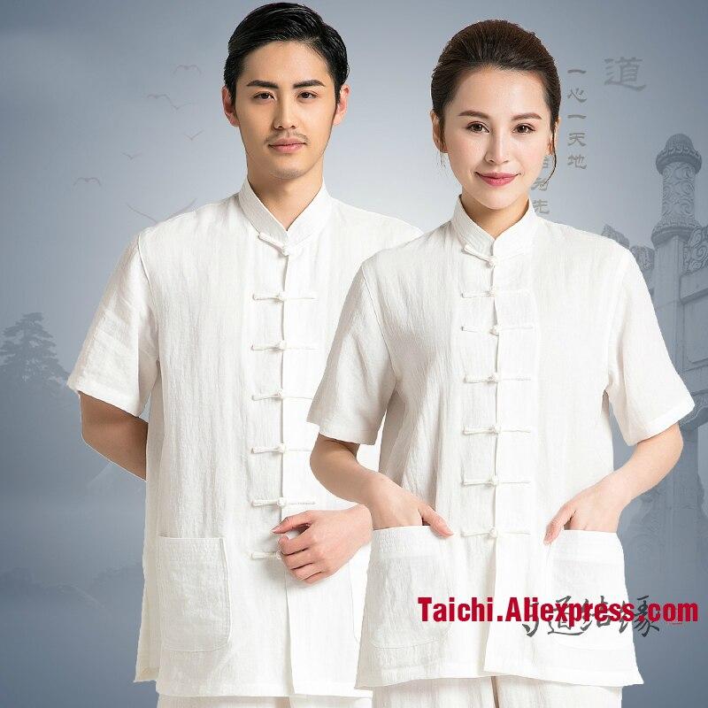 Summer Tai Chi Uniform Short Sleeve Traditional Taiji Clothing For Your Tai Chi Exercise  Kung Fu Clothing Unisex Shirt+Pant