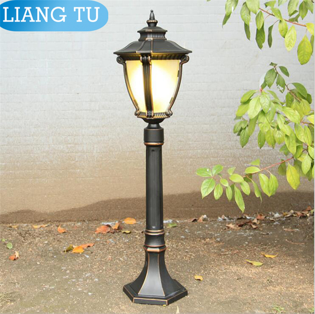 Free Shipping Bronze Finished Outdoor Pole Post Mounts With Lantern Lighting Fixtures