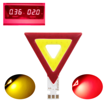 New Triangle shape 2V double color LED COB Strip for work light bicycle diy lighting red yellow led cob chip source