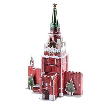 Surwish ensamblado mundo arquitectónico 3D papel modelo edificio casa Kit Spasskaya Torre/Grecia Santorini/tienda de recuerdos griegos