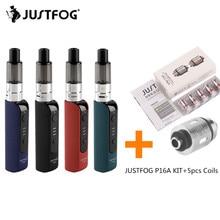Оригинальный JUSTFOG P16A компактный комплект VS 5 шт катушки распылителя 1.2ohm 1.6ohm 900 mAh Батарея 1,9 мл Clearomizer P16A электронных сигарет комплект