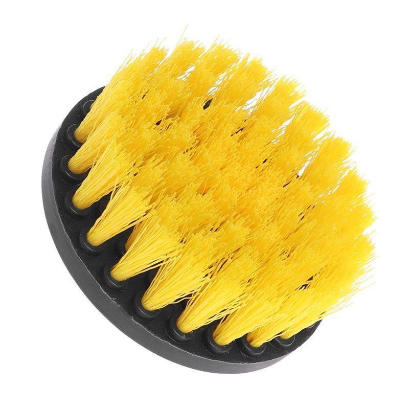 4 Inch Drill Cleaning Brush Power Scrubber Stiff Scrub Brush Bit Pad Bathroom Tile Tool Cleaning Power Scrub Auto Accessories