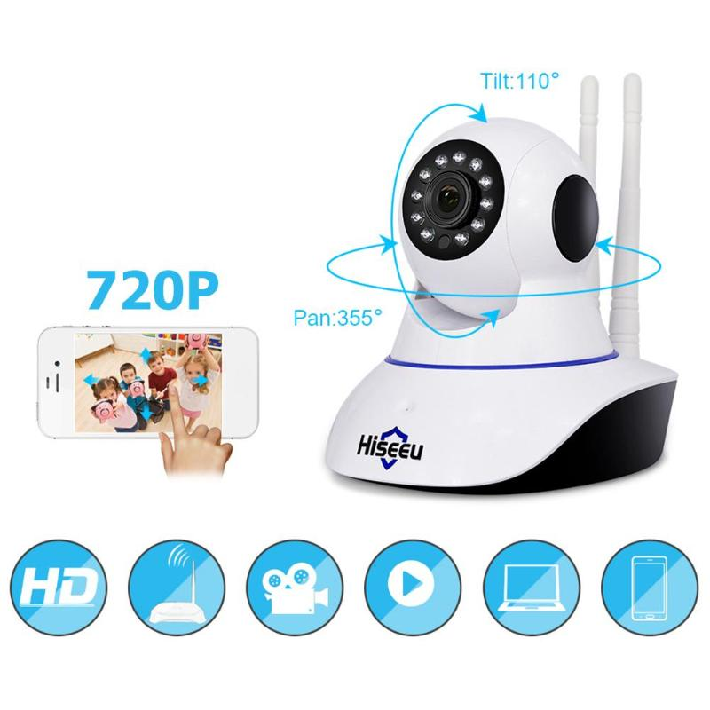 Hiseeu 720P Wireless IP Camera Wifi Night Vision Camera IP Network Camera alarm CCTV home security WI-FI P2P hiseeu 720p hd wireless ip camera wi fi night vision wifi camera p2p ip network camera home security cctv camera baby monitor