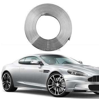 SmRKE 8 м привлекательное серебряное автомобильное колесо ступицы обода Край Протектор Кольцо защита шин резиновая наклейка для автомобиля С...