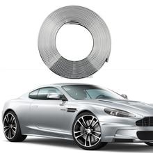 smRKE 8M Eye Catching Silver Car Wheel Hub Rim Edge Protector Ring Tire Guard Rubber Sticker Styling