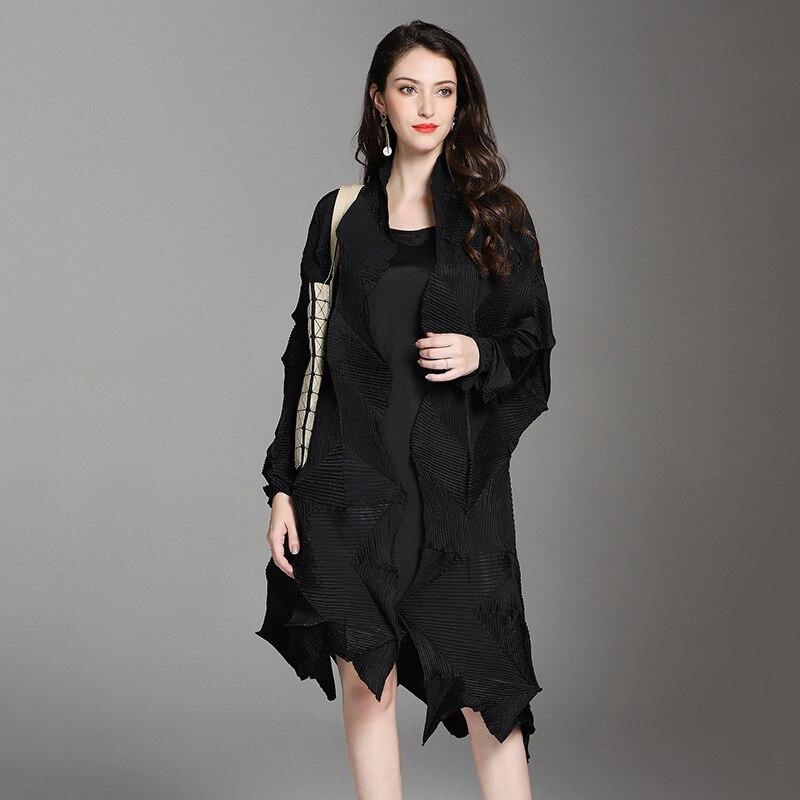 여성을위한 superaen 불규칙한 트렌치 코트 2019 가을/봄 새 폴드 윈드 브레이커 여성 옷깃 와일드 여성 의류-에서트렌치부터 여성 의류 의  그룹 2