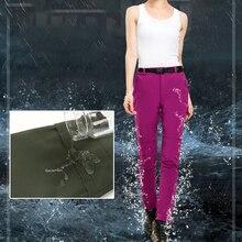 Мужские и женские зимние лыжные штаны, лыжные штаны, теплые ветрозащитные водонепроницаемые зимние штаны для сноубординга, уличные зимние походные брюки