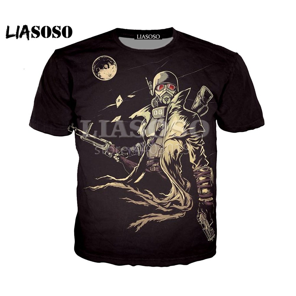 2019 New 3D Color Printing Fallout 4 Game Character Women Men T-shirt Casusl Fashion Summer O-Neck Top clothes image
