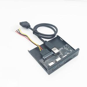 Image 5 - 33S50 RTK 3 in 1 Kartenleser USB 3,0 Front Panel Media Typ C Dual USB 3,0 Port Hub Dashboard PC Front Panel mit Power Kabel