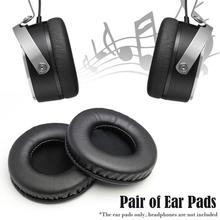 1 Pair Of Protein Leather Memory Foam Replacement Ear Pads Cap Cushion For Beyerdynamic DT880 DT860 DT990 AKG K240 K270 100-105m